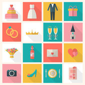 Wedding icons set — Stock Vector