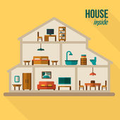 House in cut — Stock Vector