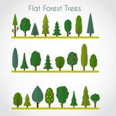 元素-树和松树的森林 — 图库矢量图片