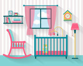 Baby room with furniture — Stock Vector