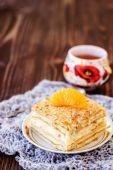 Mille-feuille pastry with mandarin — Foto de Stock