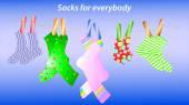 Texture of the socks — Vector de stock