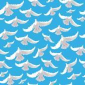 Ilustración de las palomas — Vector de stock