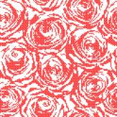 Seamless texture of red roses  — Stock Vector