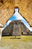 Great Pyramid of Uxmal Yucatan Mexico — Stock Photo