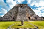 Great Pyramid of Uxmal Yucatan Mexico — Stock Photo