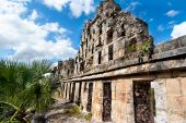 Ruins of Uxmal Mexico. la Colombaia (El Palomar) — Stock Photo