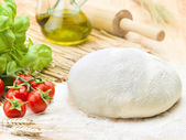 Ingredients for italian pizza — Stock Photo