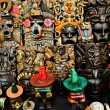 Colorful masks in  Mexican market Chichen Itza — Stock Photo #66361967
