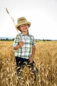 Smiling small farmer posing for a photo — Stock Photo