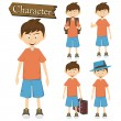 Boy character set vector illustration — Stock Vector #58094227