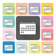 Calender Icon color set vector illustration — Stock Vector #58244115