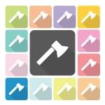 Axe Icon color set vector illustration — Stock Vector #58246273