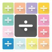 Division Icon color set vector illustration — Stock Vector