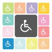 Disabled Icon color set vector illustration — Stock Vector