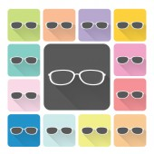 Glasses Icon color set vector illustration — Stock Vector