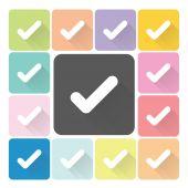 Check mark Icon color set vector illustration — Stock Vector
