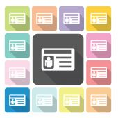 Business card Icon color set vector illustration. — Stock Vector