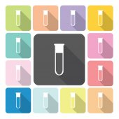 Flask Icon color set vector illustration — Stock Vector