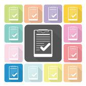 Paper board Icon color set vector illustration — Stock Vector