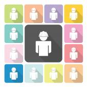 Engineer Icon color set vector illustration — Stock Vector
