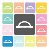 Ruler Icon color set vector illustration — Stock Vector