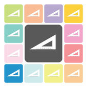 Triangle ruler Icon color set vector illustration — Stock Vector