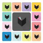 Book Icon color set vector illustration. — Stock Vector