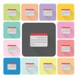Calender Icon color set vector illustration — Stock Vector #58251487