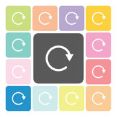 Refresh Icon color set vector illustration — Stock Vector