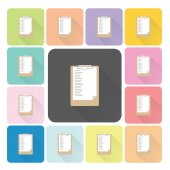 Paper board Icon color set vector illustration — Stock Vector