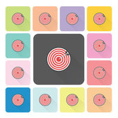Target Icon color set vector illustration — Stock Vector