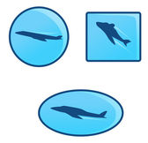 Airplane icons — Stock Vector