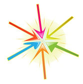 Colourful arrows — Stock Vector