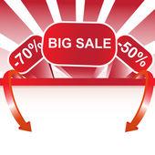 Büyük satış illüstrasyon — Stok Vektör