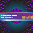 Equaliser background and banner — Stock Vector #58099025