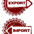 Export import stamps — Stock Vector #58099143