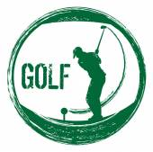 Grunge golf stamp — Vettoriale Stock