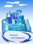 City illustration — Stock Vector
