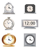 Six types of clocks — Stock Vector