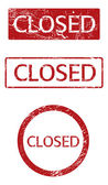 Closed signs set — Stockvector