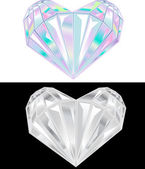 Black and white diamonds — Vector de stock