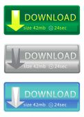 Download buttons set — Stockvector