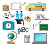 Education and school icons set — Διανυσματικό Αρχείο