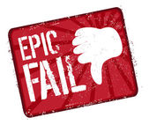 Epic fail stamp — Stock Vector