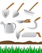 Gardening tools set — Stock Vector