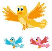 Birds in three colors — Stock Vector