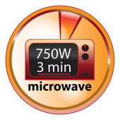 Microwave food element — Stockvektor