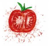 Half red tomato — Stock Vector