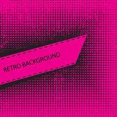 Pink Retro banner — Stock Vector